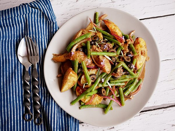 Roast Potato and Green Bean Salad Fotor