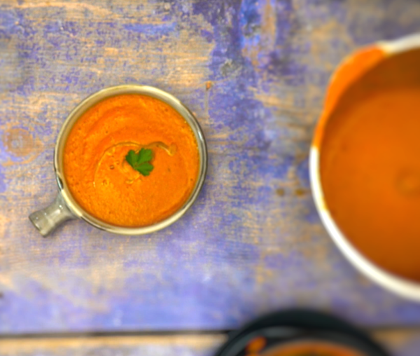 Roasted Capsicum Soup De Jour