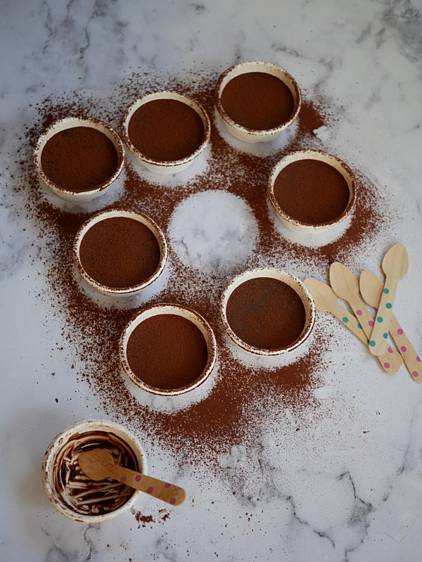 Salted Honey Evoo Chocolate Pots