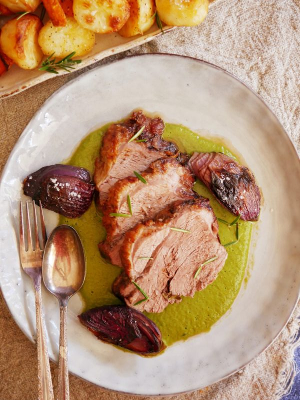 Slow Roasted Lamb with Charred Onions OH P TENINA