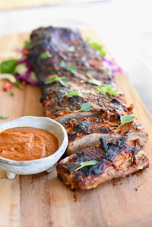 Smoky Bbq Pork Ribs With Smoky Bbq Sauce
