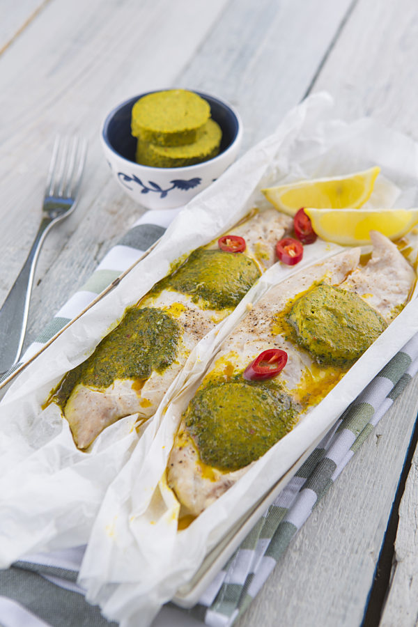 Photo of Steamed Fish Fillets with Chermoula Butter