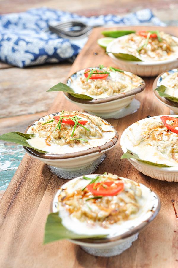 Steamed Thai Fish Pots