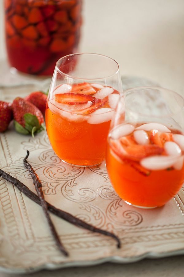 Strawberry Vanilla Shrub