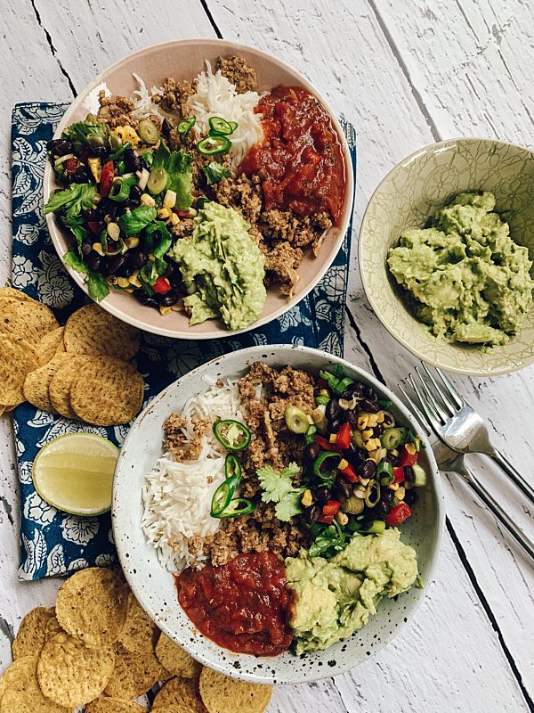 Taco Bowls With Walnut Mince