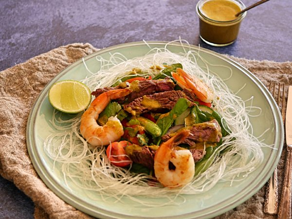 Thai Prawn and Beef Salad DROP