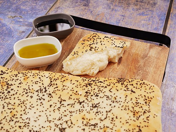 Turkish Bread With Torn Piece Fotor