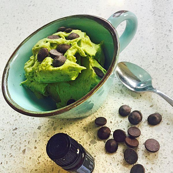 Vegan Mint Chocolate Chip Instant Ice Cream Fotor