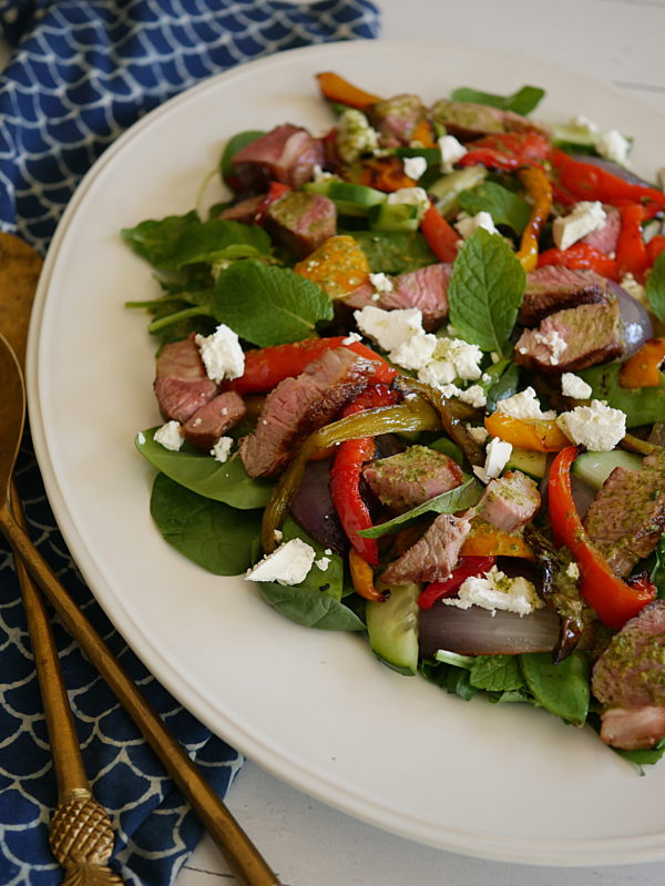 Warm Lamb Salad with Minted Dressing