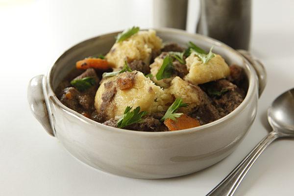 Weeknight Beefy Stew With Dumplings