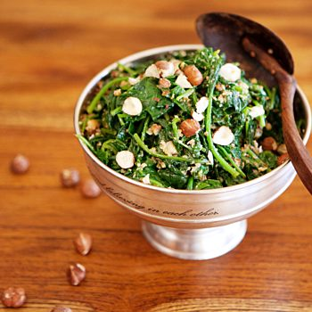 Thermomix Recipe Steamed Spinach With Hazelnut And